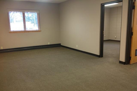 Large office space for lease in Balsam Lake, Wisconsin, 3 rooms, move-in ready.
