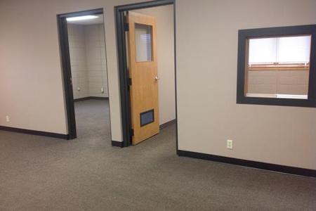 Large, commercial office space for lease in Balsam Lake, Wisconsin, 3 rooms, move-in ready.