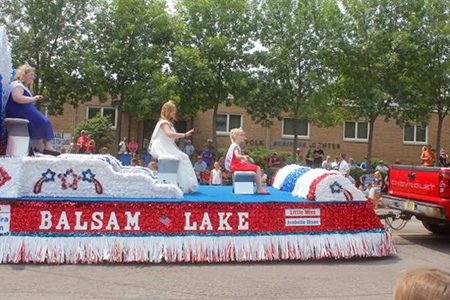 Balsam Lake Parade viewed from Polk Business Center Office Leasing